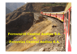 Ferrocarril Central Andino S.A. & Ferrovías Central Andina S.A.