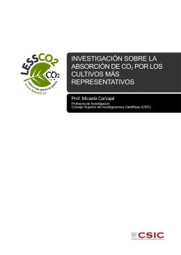 investigación sobre la absorción de co2 por los cultivos