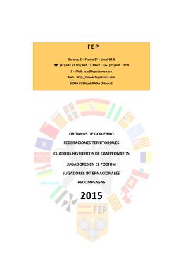 FEP - Federación Española de Petanca