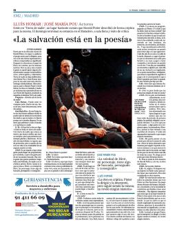 (Entrevista con Pou y Homar). El Mundo