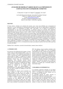 análisis de refractarios silico-aluminosos en contacto con