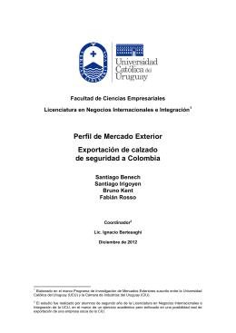 Exportación de calzado de seguridad a Colombia
