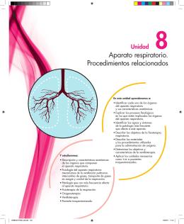 Aparato respiratorio. Procedimientos relacionados