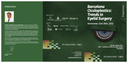 Barcelona Oculoplastics: Trends in Eyelid Surgery