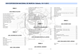 XXVI EXPOSICION NACIONAL DE MURCIA: Sábado, 10-11-2012