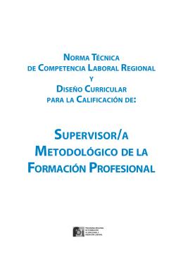 supervisor/a metodológico de la formación profesional