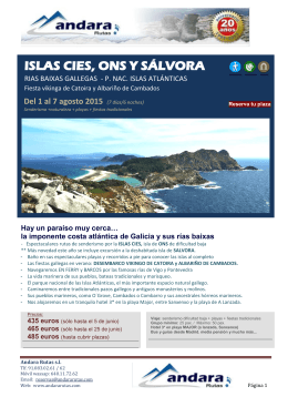 ISLAS CIES Y RIAS BAIXAS senderismo 1