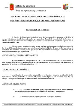 Cabildo de Lanzarote Área de Agricultura y Ganadería