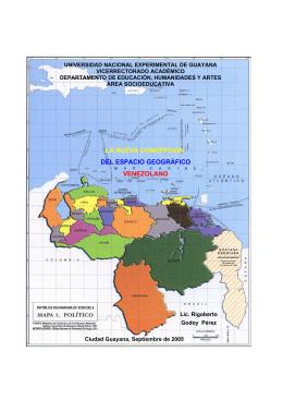 la nueva concepción del espacio geográfico venezolano