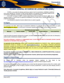 Convocatoria - Facultad de Química