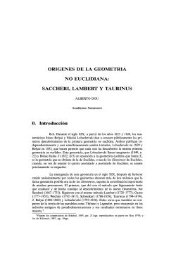 ORÍGENES DE LA GEOMETRÍA NO EUCLIDIANA