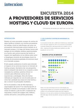 encuesta 2014 a proveedores de servicios hosting y