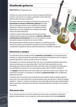 Añadiendo guitarras