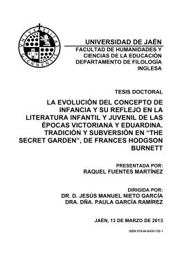 UNIVERSIDAD DE JAÉN LA EVOLUCIÓN DEL CONCEPTO