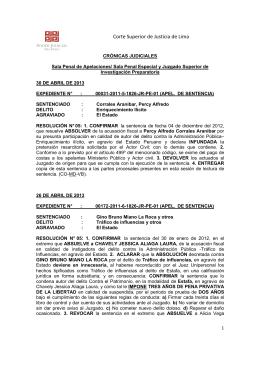 CRÓNICAS DE SALA DE ABRIL