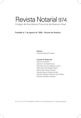 Revista Notarial 974 - Colegio de Escribanos de la Provincia de