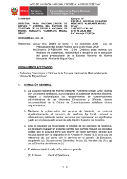 "ESCUELA NACIONAL MARINA MERCANTE ""ALMIRANTE MIGUEL"