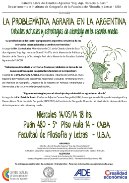 La problemática agraria en la Argentina