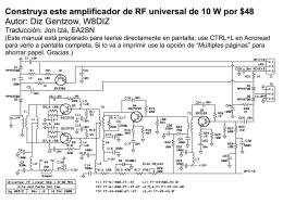 Construya este amplificador de RF universal de 10