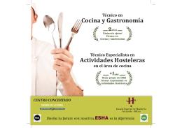 Actividades Hosteleras Cocina y Gastronomía