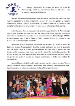 ABASAL, Asociación de Amigos del Baile de Salón de Almendralejo