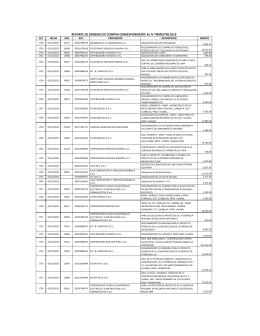 reporte de ordenes de compra correspondiente al iv trimestre 2013