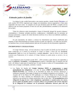 inscripciones - Colegio Salesiano Querétaro