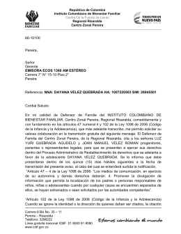 66-10100 Pereira, Señor Gerente EMISORA ECOS 1360 AM
