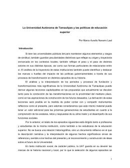1 La Universidad Autónoma de Tamaulipas y las políticas