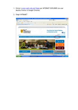 1. Entrar a www.upch.edu.pe/faspa por INTERNET EXPLORER (no