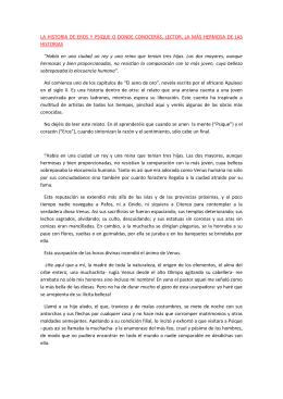 LA HISTORIA DE EROS Y PSIQUE O DONDE