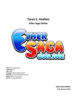 Tarea 1: Análisis Ether Saga Online
