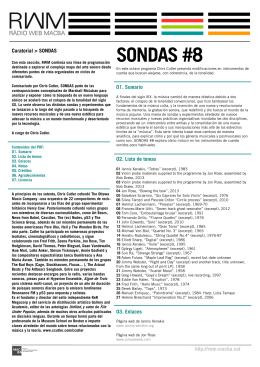 SONDAS #8 - Ràdio Web MACBA.