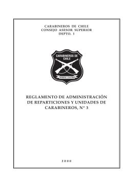 Reglamento Nº 3_ de Administración de Reparticiones