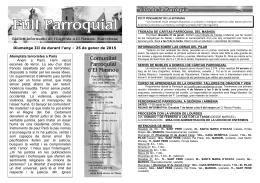 Full Parroquial 2015 0103 - Comunitat Parroquial del Masnou