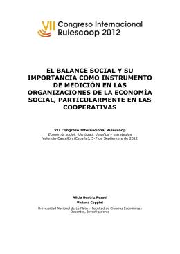 EL BALANCE SOCIAL Y SU IMPORTANCIA COMO INSTRUMENTO