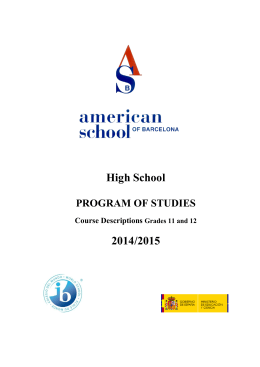 International Baccalaureate - American School of Barcelona