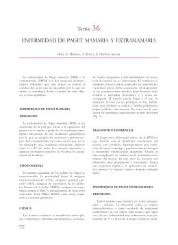 Tema 36 ENFERMEDAD DE PAGET MAMARIA Y EXTRAMAMARIA