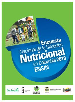 Encuesta Nacional de la Situación Nutricional en Colombia