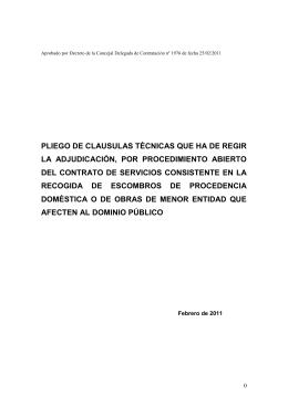 Pliego técnico (Expt. 257/2011)