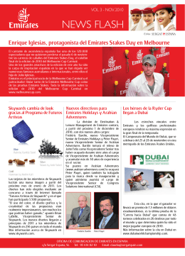 News Flash Emirates Spain - Enero 2010