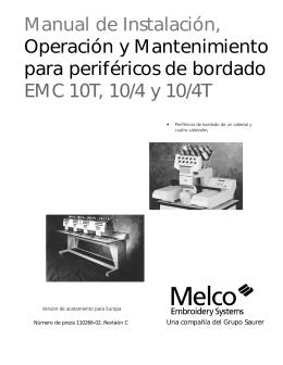 Manual de Instalación, Operación y Mantenimiento