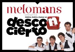 Descargar Dossier Desconcierto de Melomans
