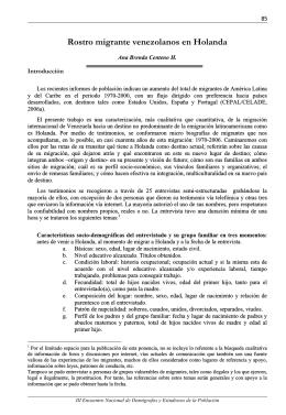 Ana B. Centeno H.. Rostro migrante: venezolanos en Holanda. pp