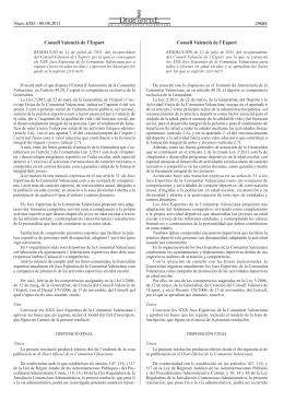 Consell Valencià de l`Esport Consell Valencià de l`Esport 29888