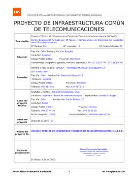 proyecto de infraestructura común de telecomunicaciones