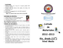 Listado de Materiales 2012-2013 - gardenkids international school