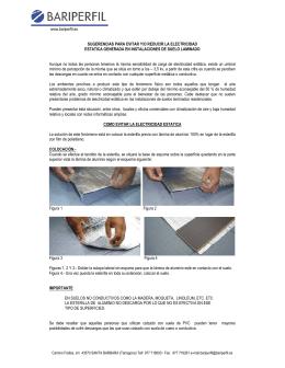 www.bariperfil.es SUGERENCIAS PARA EVITAR Y/O REDUCIR LA