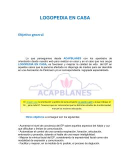 LOGOPEDIA EN CASA - Asociación de Parkinson AlcoSSe