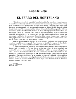 Lope de Vega EL PERRO DEL HORTELANO